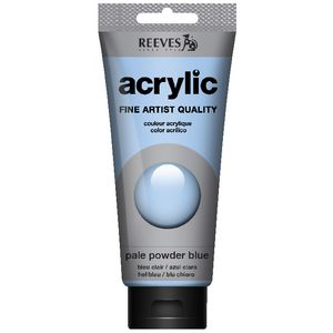 Reeves Artist Acrylic Paint 200mL Pale Powder Blue
