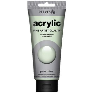 Reeves Artist Acrylic Paint 200mL Pale Olive