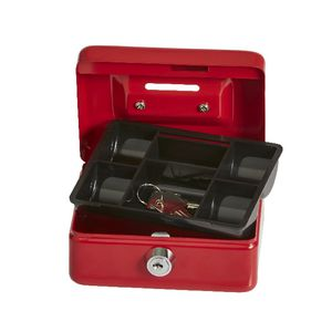 Mini Cash Money Box Red