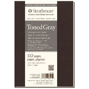 Strathmore Soft Cover Grey Journal 5.5 x 8""