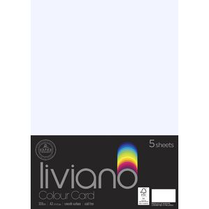 Liviano A3 Colour Card 300gsm White 5 Pack