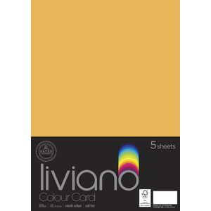 Liviano A3 Card 300gsm Old Gold 5 Pack
