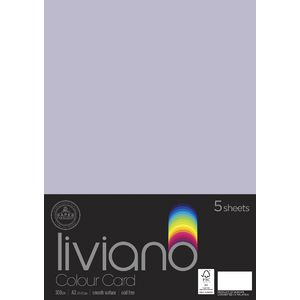 Liviano A3 Colour Card 300gsm Lilac 5 Pack