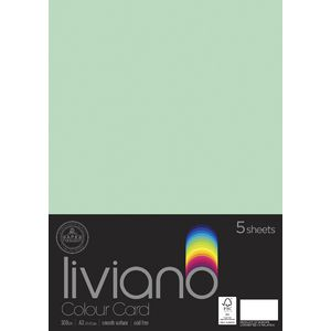 Liviano A3 Card 300gsm Mint 5 Pack