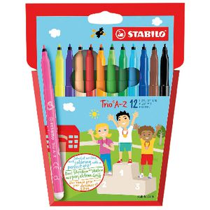 Stabilo Trio A-Z Pens Assorted 12 Pack