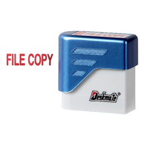 Deskmate Pre-Inked Office Stamps File Copy Red