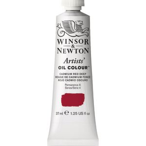 Winsor & Newton Artist Oil Colour 37mL Cadmium Red Deep S5