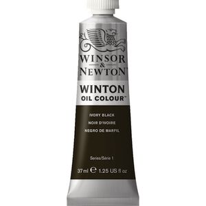 Winsor & Newton Winton Oil Colour 37mL Ivory Black
