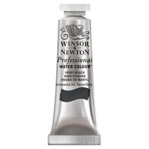 Winsor & Newton Prof. Watercolour 5mL Ivory Black S1
