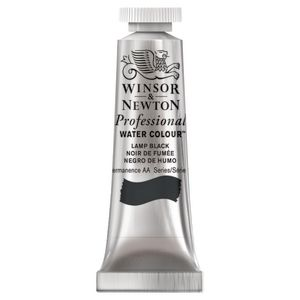 Winsor & Newton Prof. Watercolour 5mL Lamp Black S1
