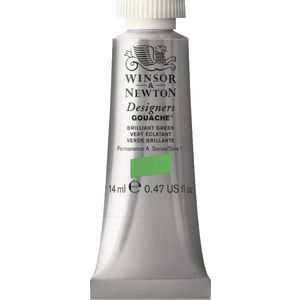 Winsor & Newton Designers Gouache 14mL Brilliant Green S1