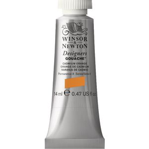 Winsor & Newton Designers Gouache 14mL Cadmium Orange S4