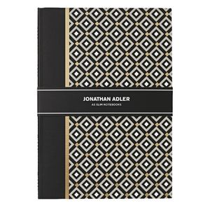 Jonathan Adler Slim A5 Notebook 30 Page Black 2 Pack