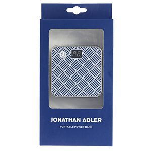 Jonathan Adler Portable Power Bank Dual Port 4500mAh Blue