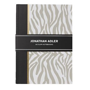 Jonathan Adler A6 Slim Notebooks Black 2 Pack