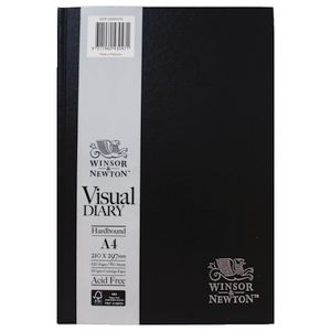 Winsor & Newton A4 Hard Cover Visual Diary 120 Page