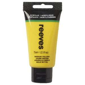 Reeves Artist Acrylic Paint 75mL Medium Yellow