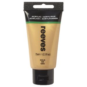 Reeves Artist Acrylic Paint 75mL Gold