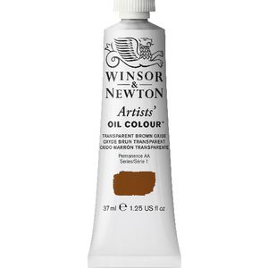 Winsor & Newton Artist Oil Colour 37mL Transp Brown Oxide S1