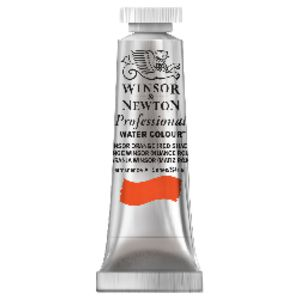 Winsor & Newton Prof. Watercolour 5mL Orange Red Shade S1