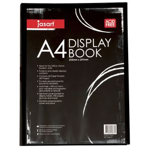 Jasart A4 Display Book 20 Pocket Black