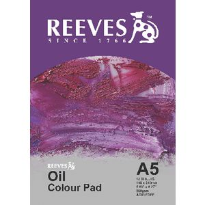 Reeves A5 Oil Colour Pad 12 Sheets