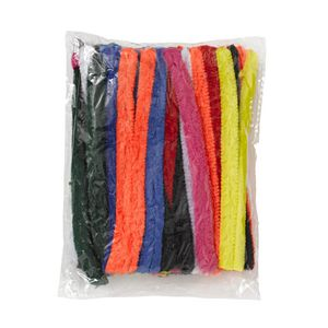 Jasart 15cm Chenille Pipe Cleaners Assorted 50 Pack