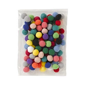 Jasart Pom Poms 20mm Assorted 100 Pack