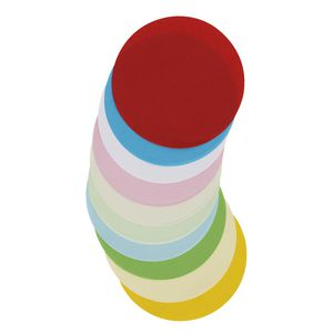 Jasart Paper Circles 120mm Matt Assorted 500 Pack