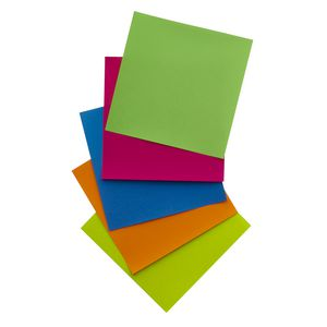 Jasart Paper Squares 254mm Fluoro Assorted 100 Pack