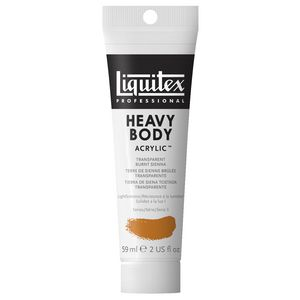 Liquitex Heavy Body Acrylic 59mL Burnt Sienna Transparent