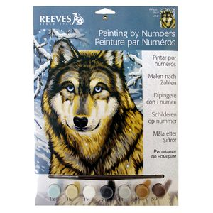Reeves Artist Collection Paint by Number Wolf