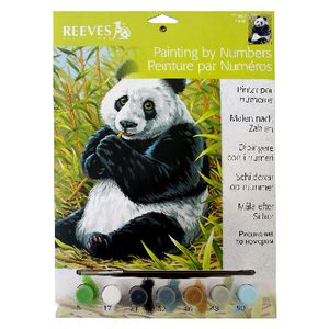 Reeves Artist Collection Paint by Numbers Panda