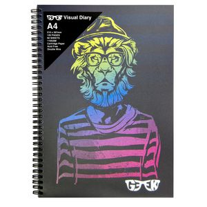 Geek A4 Visual Diary Hipster Lion