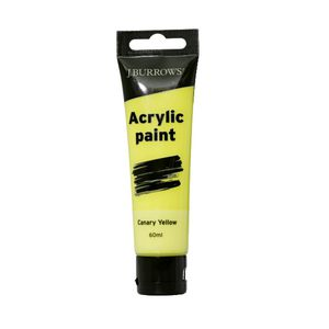 J.Burrows Acrylic Paint 60mL Canary Yellow