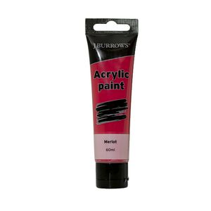 J.Burrows Acrylic Paint 60mL Merlot