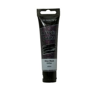 J.Burrows Acrylic Paint 60mL Glitter Onyx Black