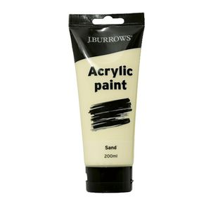 J.Burrows Acrylic Paint 200mL Sand