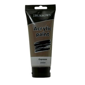 J.Burrows Acrylic Paint 200ml Expresso