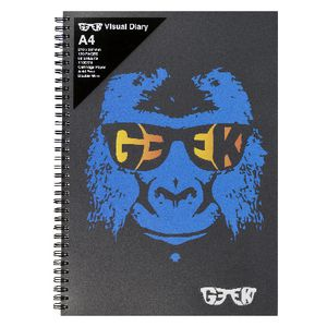 Geek A4 Visual Diary Baboon