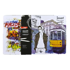 Jasart Colour Pencils in Tin 36 Pack