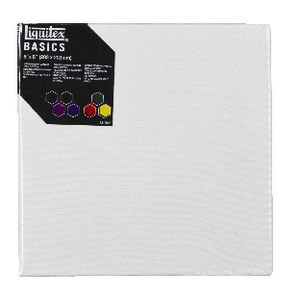 "Liquitex Basics Thin Edge Stretched Canvas 8"" x 8"""