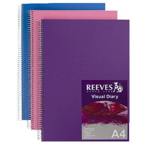 Reeves Visual Colour Diary A4 Assorted Colours
