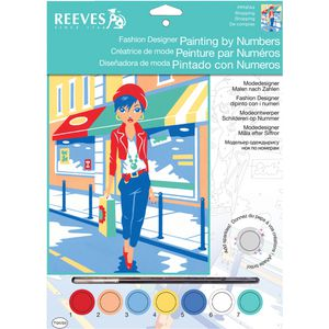 Reeves Fashion Paint by Numbers Shopping