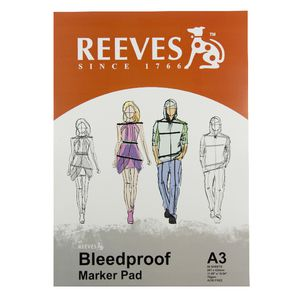Reeves A3 Bleedproof Paper 70gsm 50 Sheets