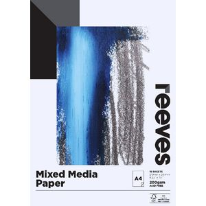 Reeves A4 Mixed Media Paper Pad 200gsm 15 Sheets