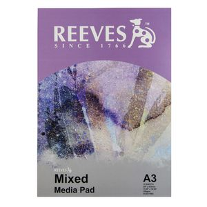 Reeves A3 Mixed Media Paper Pad 200gsm 15 Sheets
