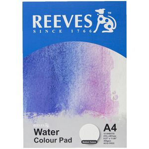 Reeves A4 Watercolour Paper 300gsm 12 Sheets