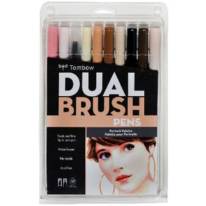 Tombow Dual Tip Brush Pens Portrait 10 Pack