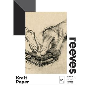 Reeves A4 Kraft Paper Pad 110gsm 50 Sheets